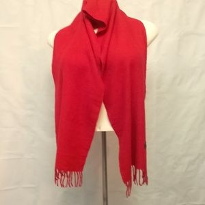 NWT 100% Cashmere Red Scarf by Lochmere - UNISE